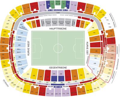 Stadionplan Frankfurt Commerzbank